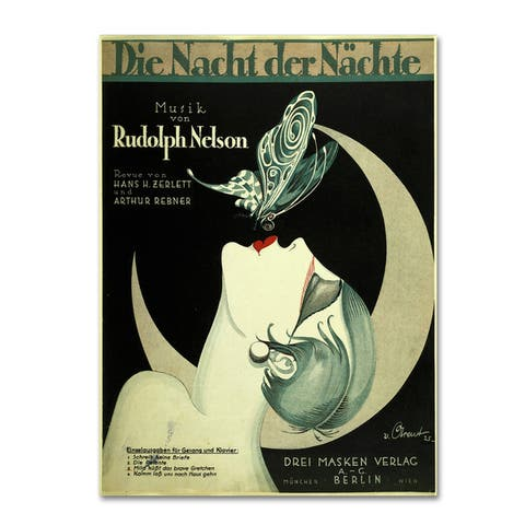 Vintage Apple Collection 'Art Deco Music Sheet' Canvas Art