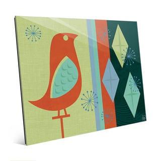 Sparkle Bird with Diamonds Wall Art on Acrylic