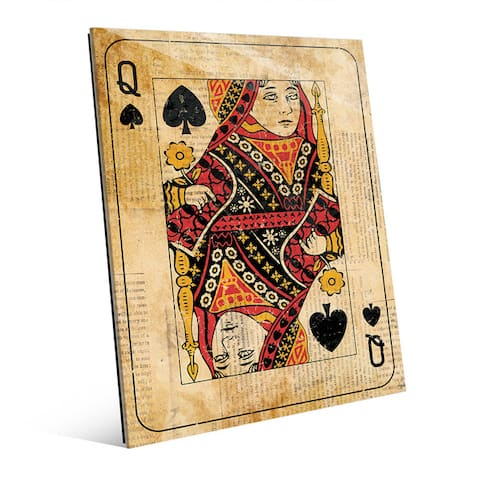 Vintage Queen Playing Card Wall Art on Acrylic