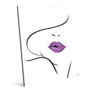 Mauve Lipstick Wall Art Print on Acrylic