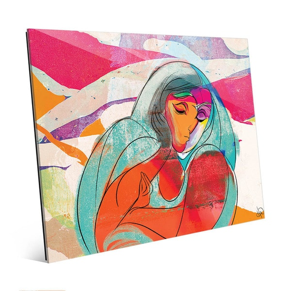 Reflective Maiden Woman Wall Art Print on Acrylic