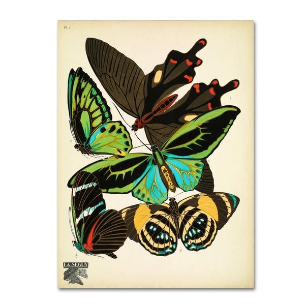 Vintage Apple Collection 'Papillons 1' Canvas Art