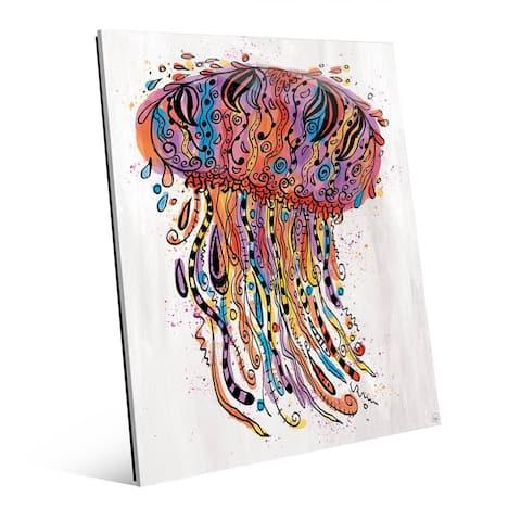Colorful Wild Jellyfish Wall Art Print on Acrylic