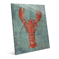 Lobster in Red Wall Art Print on Acrylic