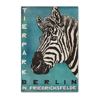 Vintage Apple Collection 'Berlin Zebra' Canvas Art