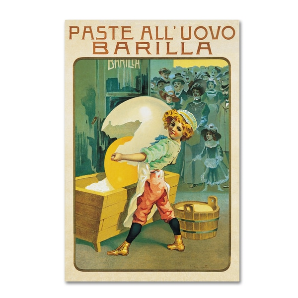 Vintage Apple Collection 'Barilla Pasta Egg' Canvas Art 27060263