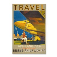 Vintage Apple Collection 'Art Deco Airplane Travel' Canvas Art