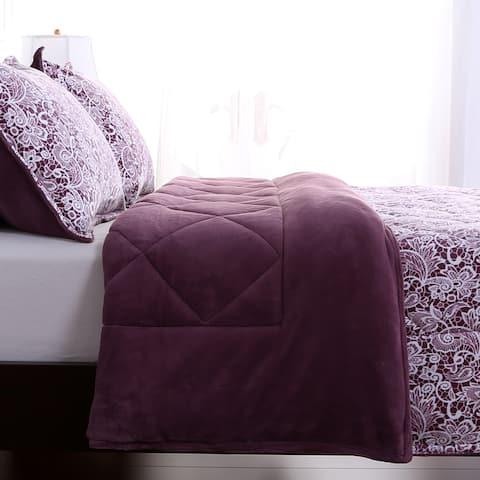 Berkshire Blanket Lace Printed Comforter and Shams Set