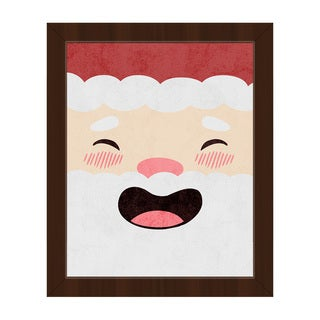 St. Jolly Nick Laughing Framed Canvas Wall Art