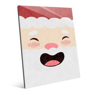 St. Jolly Nick Laughing All the Way Wall Art on Acrylic