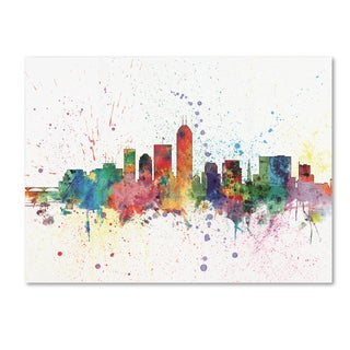 Michael Tompsett 'Indianapolis Indiana Skyline II' Canvas Art