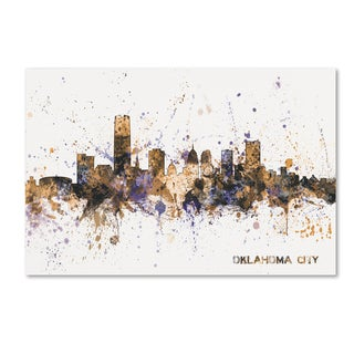 Michael Tompsett 'Oklahoma City Skyline II' Canvas Art