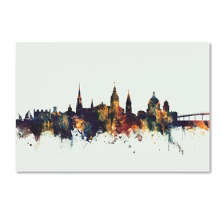 Michael Tompsett 'Annapolis Maryland Skyline V' Canvas Art