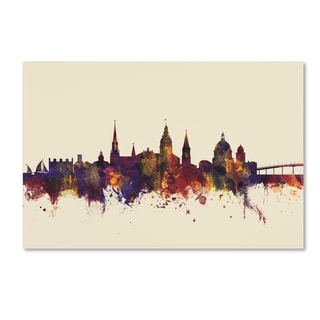 Michael Tompsett 'Annapolis Maryland Skyline IV' Canvas Art