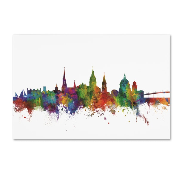 Michael Tompsett 'Annapolis Maryland Skyline II' Canvas Art