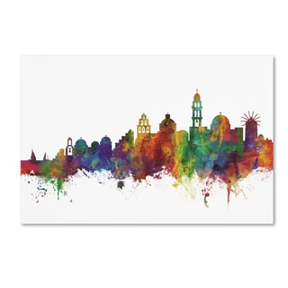 Michael Tompsett 'Santorini Skyline II' Canvas Art