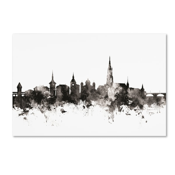 Michael Tompsett 'Bern Switzerland Skyline III' Canvas Art