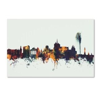 Michael Tompsett 'Geneva Switzerland Skyline V' Canvas Art