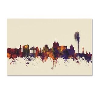 Michael Tompsett 'Geneva Switzerland Skyline IV' Canvas Art