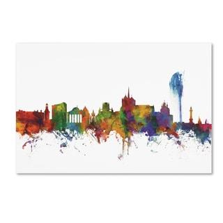 Michael Tompsett 'Geneva Switzerland Skyline II' Canvas Art
