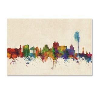 Michael Tompsett 'Geneva Switzerland Skyline' Canvas Art