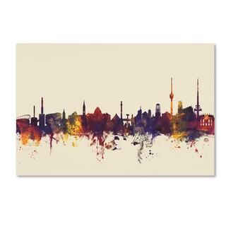 Michael Tompsett 'Stuttgart Germany Skyline IV' Canvas Art