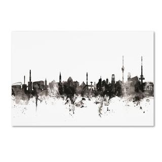 Michael Tompsett 'Stuttgart Germany Skyline III' Canvas Art