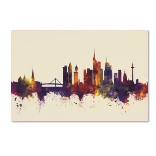 Michael Tompsett 'Frankfurt Germany Skyline IV' Canvas Art