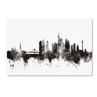 Michael Tompsett 'Frankfurt Germany Skyline III' Canvas Art