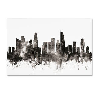 Michael Tompsett 'Los Angeles California Skyline III' Canvas Art