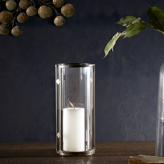 INK+IVY Warwick Bronze Handmade Iron/ Glass Candleholder - Large