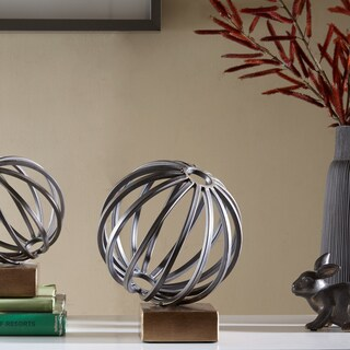 Madison Park Piper Bronze Metal Globe Figurine - Large