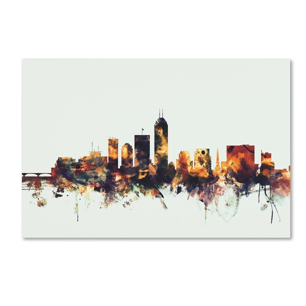 Michael Tompsett 'Indianapolis Indiana Skyline' Canvas Art