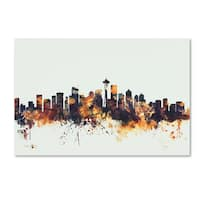Michael Tompsett 'Seattle Washington Skyline' Canvas Art
