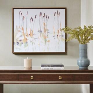 Madison Park Signature Chesapeake Cattails Multi Hand Embellished Canvas With Bronze Frame