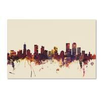 Michael Tompsett 'Denver Colorado Skyline' Canvas Art