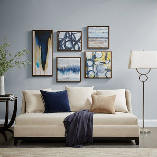 Madison Park Blue Bliss Natural Gallery Art 5 Piece Set