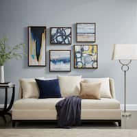Madison Park Blue Bliss Natural Gallery Art 5-Piece Set