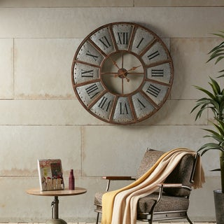 Carbon Loft Hughes Bronze Iron Wall Clock