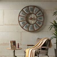 INK+IVY Verona Bronze Iron Wall Clock