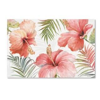Lisa Audit 'Tropical Blush I' Canvas Art
