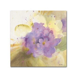 Sheila Golden 'Violets' Canvas Art
