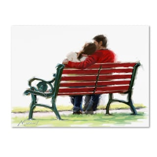 The Macneil Studio 'Couple On Bench' Canvas Art
