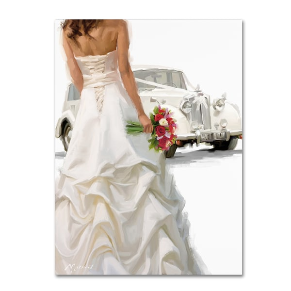 The Macneil Studio 'Bride And Car' Canvas Art