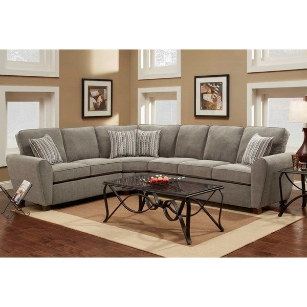 Harris Contemporary Sectional Sofa  sc 1 st  Overstock.com : harris sectional - Sectionals, Sofas & Couches