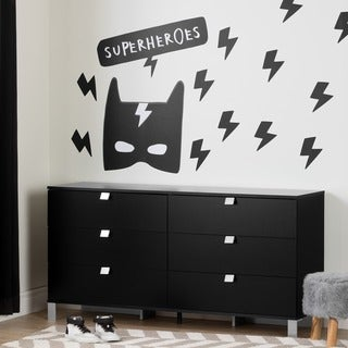 South Shore DreamIt Black Superheroes Wall Decals