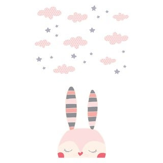 South Shore DreamIt Pink Doudou the rabbit Wall Decals