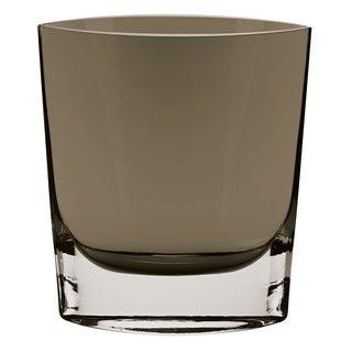 """Samantha Mouth Blown Glass Smoke 8"""" Vase"""