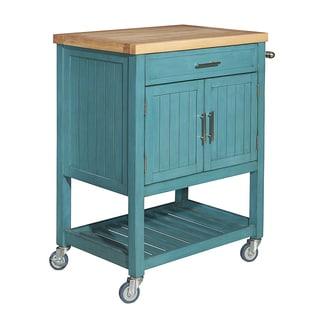 Conrad Teal Kitchen Cart