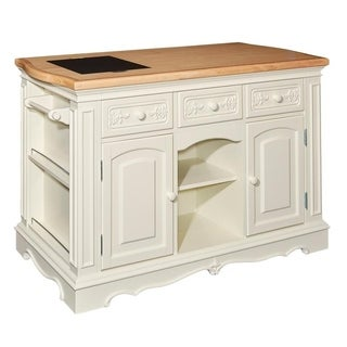 Powell Pennfield White Wood Kitchen Island